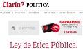 Ley de Etica Pública.  El Gobierno defendió el proyecto