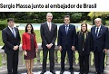 Reunión con el embajador de Brasil
