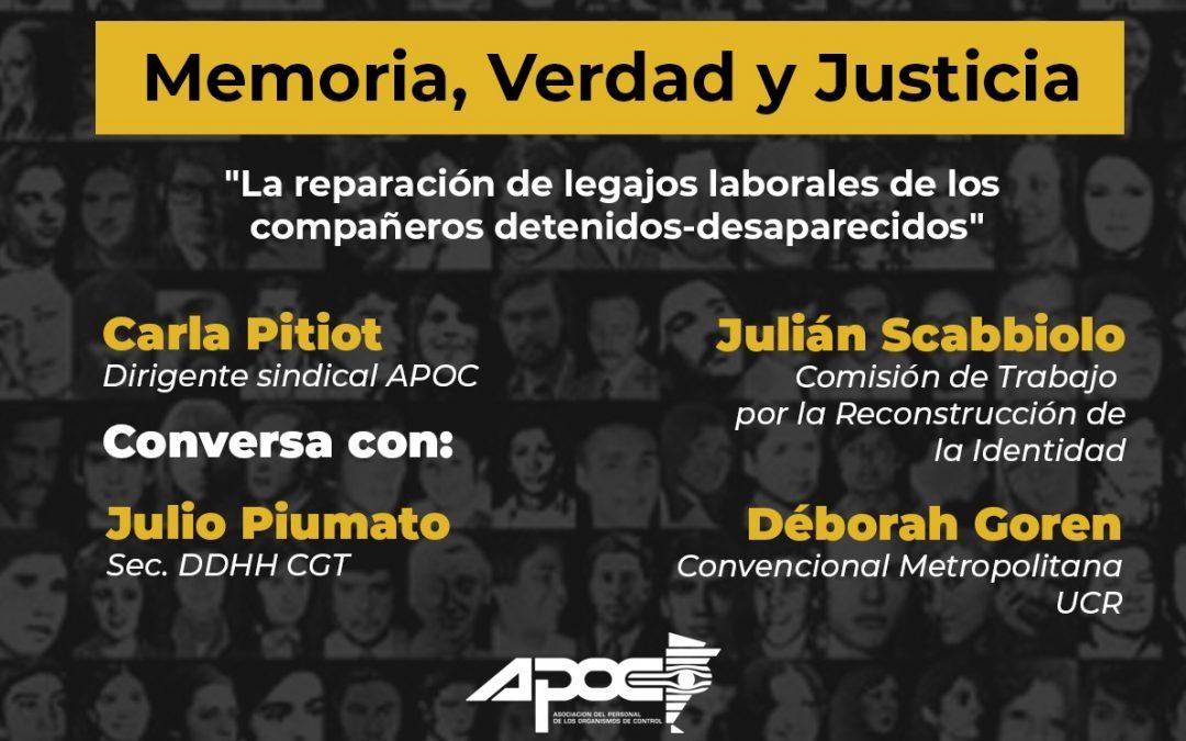 Reparación de legajos laborales de trabajadores detenidos-desaparecidos