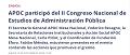APOC en Congreso de Administración Pública
